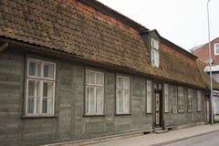 利耶帕亚,拉脱维亚- 2017年3月:木建筑学 库存图片