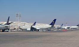 利雅得机场 免版税库存照片