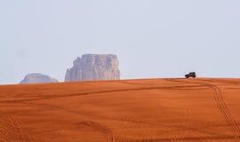 利雅得红色沙漠  库存照片