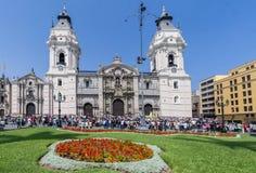 利马大教堂秘鲁 免版税库存照片