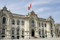 利马宫殿总统的秘鲁 免版税库存图片