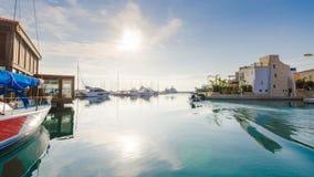 利马索尔小游艇船坞,塞浦路斯 免版税图库摄影