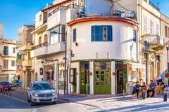 利马索尔,塞浦路斯- 2017年2月18日:Commandarias街道在林 库存照片