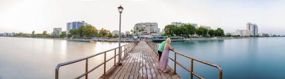 利马索尔地平线,塞浦路斯 免版税图库摄影