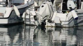 利马索尔小游艇船坞小船 股票视频