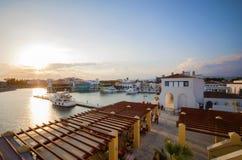 利马索尔小游艇船坞,塞浦路斯 库存图片