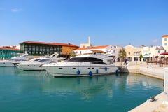 利马索尔小游艇船坞,塞浦路斯 免版税库存照片