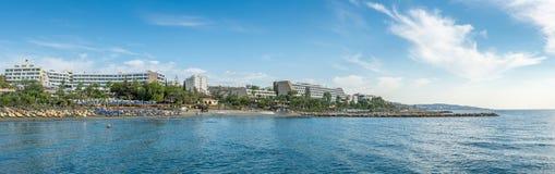利马索尔海岸线 免版税图库摄影