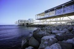 利马索尔,塞浦路斯旧港口的利马索尔小游艇船坞  库存照片