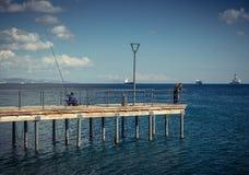 利马索尔,塞浦路斯- 2016年12月:沿海岸线的散步 免版税库存照片