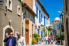 利马索尔,塞浦路斯- 2016年4月01日:Genethliou Mitellla街道, a 库存图片
