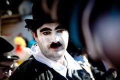 塞浦路斯狂欢节队伍 图库摄影