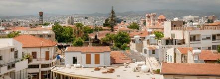 利马索尔 塞浦路斯 老全景城镇 免版税库存图片