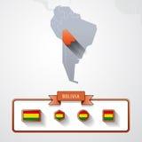 玻利维亚信息卡片 库存例证