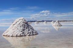 玻利维亚的盐舱内甲板 免版税库存图片