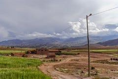 玻利维亚, altiplano的山 免版税库存图片