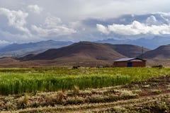 玻利维亚, altiplano的山 库存照片
