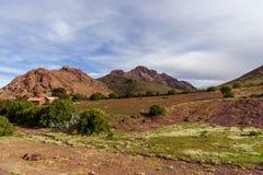 玻利维亚, altiplano的山 免版税图库摄影