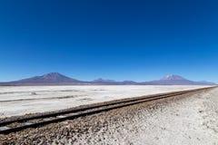 玻利维亚de撒拉尔uyuni 图库摄影