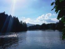 利贝雷茨市的全景 库存照片