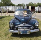 1947黑别克八汽车正面图 免版税图库摄影
