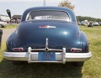 1947黑别克八汽车背面图 库存图片
