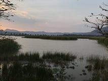 别墅光环,哈利斯科州,墨西哥盐水湖  免版税库存图片