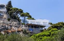 别墅克虏伯旅馆在卡普里岛镇在卡普里岛海岛上的 免版税库存图片