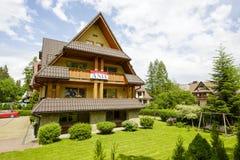 别墅名为Ania在扎科帕内,波兰 库存图片