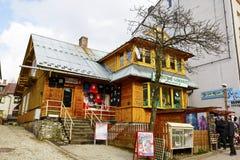 别墅名为Libertowka在扎科帕内 免版税图库摄影