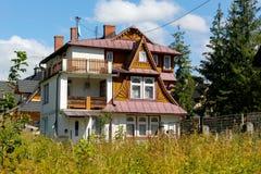 别墅在扎科帕内,波兰命名了Cyganeczka 免版税库存图片