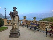 别墅在科莫湖的del Balbianello 免版税库存照片