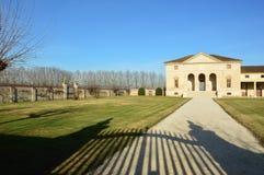 别墅安德烈亚・帕拉弟奥建筑师设计的Saraceno, 免版税库存照片