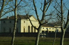 别墅安德烈亚・帕拉弟奥建筑师设计的Saraceno, 库存照片