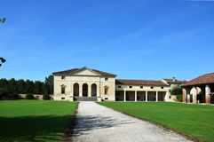 别墅安德烈亚・帕拉弟奥建筑师设计的Saraceno, 免版税库存图片