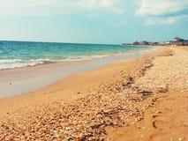 别墅小游艇船坞海滩 库存图片