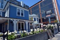 别墅用餐&咖啡馆在克赖斯特切奇-新西兰 免版税库存图片