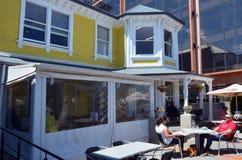 别墅用餐&咖啡馆在克赖斯特切奇-新西兰 免版税图库摄影