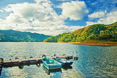 别墅的克拉拉,古巴人工湖Hanabanilla 免版税库存图片