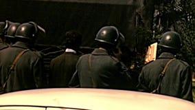 别墅的博尔盖塞意大利军队士兵 股票录像
