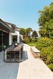 别墅的美丽的露台 库存照片