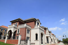 别墅的建筑 库存图片