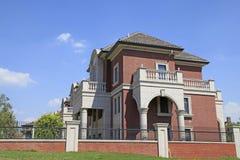 别墅的建筑 免版税库存照片