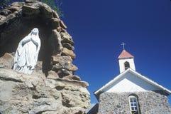 别墅的Nueva新墨西哥一个教会 库存照片