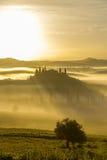 别墅眺望楼在圣Quirico d'Orcia 免版税图库摄影