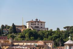 别墅神对世人的爱的Arrighetti在一个晴天 佛罗伦萨意大利托斯卡纳 免版税库存图片