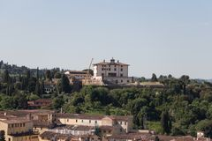 别墅神对世人的爱的Arrighetti在一个晴天 佛罗伦萨意大利托斯卡纳 免版税图库摄影
