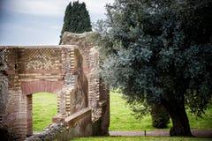 别墅艾德里安娜, Tivoli 罗马 意大利 库存图片