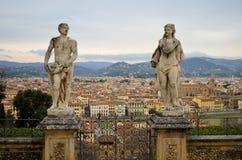 从别墅巴尔迪尼的佛罗伦萨视图 免版税库存照片