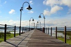 别墅索里亚诺省船坞 免版税库存照片